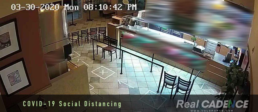 COVID-19 QSR social distance tape